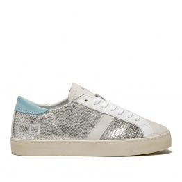 Sneakers silver D.A.T.E. avec sa touche turquoise