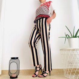 Pantalon Rayé Trussardi