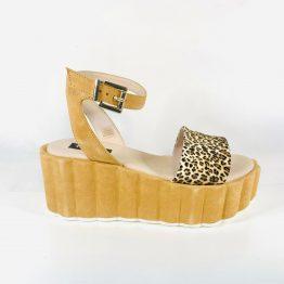 Sandales plateformes léopard ToscaBlu