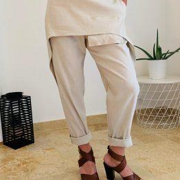 Pantalon beige Oblique Création