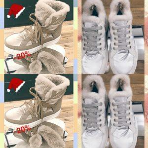 sneakers fourrées à plan de cuques